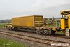 180601-022  HOBC bogie barrier wagon, type IFA No. 31 70 9301 001-3, seen in the consist of 6Y38, 03:59 Fairwater yard, Taunton - Thoresby Colliery Junction.