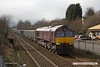 180327-010  GB Railfreight class 66/7 No. 66746, one of two examples carrying Belmond Royal Scotsman livery is captured passing Tenter Lane, Mansfield, powering train 6E89, 10:20 Wellingborough - Rylstone.