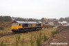180315-007  GB Railfreight class 66/7 No. 66778 Darius Cheskin is seen  near the buffers on W H Davis's exchange siding. The site of the former LD & ECR Station at Langwith Junction is now a construction site.