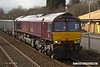 180327-010  Close-up of GB Railfreight class 66/7 No. 66746, one of two examples carrying Belmond Royal Scotsman livery, captured passing Tenter Lane, Mansfield, powering train 6E89, 10:20 Wellingborough - Rylstone.