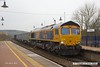 180315-019  GB Railfreight class 66/7 No. 66710 Phil Packer is seen passing through Shirebrook, powering train 6E89, 09:22 Wellingborough - Rhylstone.