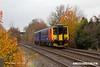 181107-001  East Midlands Trains class 156 unit No. 156401 passing Vale Road, Mansfield Woodhouse with 2D12, the 12:38 Worksop - Nottingham