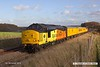 181112-018  Colas Rail Freoght class 37's No's 37254 Cardiff Canton & 37116 are captured passing the former Clipstone junctions, powering (top & tail) test train 3Z11, 15:00 High Marnham - Derby RTC.. Due to signalling problems the train had crawled to a halt, and is seen pulling away again after recieving permission to to pass signal at danger.