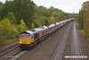 181012-010  GB Railfreight class 66/7 No. 66760 David Gordon Harris passing Tupton with 6H10, 09:57 Bletchley - Peak Forest.