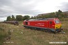 181003-007  DB Cargo class 67 No. 67028 is seen at the end of Davis's headshunt at Shirebrook., whilst Davis's resident diesel shunting locomotive, Andrew Barclay No. 499 takes four HTA hoppers into the yard. Three of these were sent back to Toton.