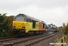 181006-009  Colas Rail Freight class 67's No's 67023 Stella & 67027 Charlotte are captured passing Vale Road, Mansfield Woodhouse, powering RHTT 3J89, 05:00 Stapleford & Sandiacre - Toton T.M.D.