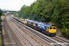 180924-005  A pair of GB Railfreight class 66/7's No's 66709 Sorento, & 66737 Lesia are captured passing Hasland with 6M73, 10:50 Doncaster up Decoy - Toton North Yard.