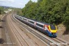 180924-003  East Midlands Trains class 222 Meridian unit No. 222003 is seen passing Hasland with 1C44, the 12:29 Sheffield - London St Pancras.