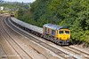 180924-011  GB Railfreight class 66/7 No. 66704 Colchester Power Signalbox is captured passing Hasland with engineers train 6B16, 09:17 Doncaster Belmont Down Yard - Derby.