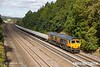 180924-013  GB Railfreight class 66/7 No. 66704 Colchester Power Signalbox is captured passing Hasland with engineers train 6B16, 09:17 Doncaster Belmont Down Yard - Derby.