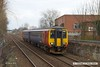 180307-001  East Midlands Trains class 156 unit No. 156413 approaching Princes Street footbridge Mansfield with 2D11, the 12:37 Mansfield Woodhouse - Nottingham.