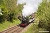 190512-025  LMS Stanier 8F 2-8-0 No. 48305 passing Charnwood with the mineral wagons, running as 7C17, 11:20 Loughborough - Swithland. 48305 was returned to traffic, after a overhaul, just in time to appear at the gala, making a rare appearance for a pair of Stanier 8F's at the same event