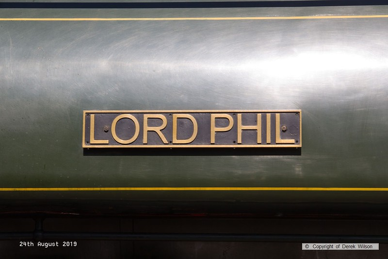 190824-008  Nameplate of Hunslet austerity 0-6-0ST No. 3883 Lord Phil.