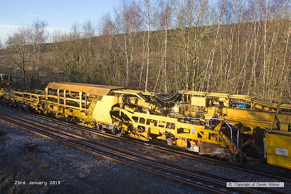 190123-026  Matisa P95 track renewal machine DR 78821 (TRS2), seen at Ollerton, on the High Marnham Test Track.