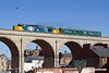 190703-009  Direct Rail Services class 37/4 No. 37402 Stephen Middlemore 23.12.1954 - 8.6.2013 with  observation saloon 975025 Caroline, is captured crossing the 15 arch viaduct at Mansfield with 2Z02, 08:35 Derby - Derby.