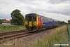 190718-006  East Midlands Trains class 156 unit No. 156410 is captured passing Norwood level crossing, Mags Lane, near Creswell, forming train 2W16, the 14:26 Nottingham - Worksop.