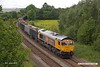 190606-001  GB Railfreight class 66/7 No. 66782 is seen from the A617 Sutton bypass, powering 6E89, 09:59 Wellingborough - Rylstone.