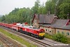 190624-030  DB Cargo class 66 No. 66136 is captured passing through Peak Forest, powering train 6V11, 10:00 Briggs sidings - Theale.