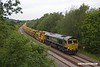 190604-004  Freightliner class 66/5 No. 66559 is seen at Ollerton on the High Marnham Test Track, leading High Output Ballast Cleaner (HOBC) 6Y15, 02:47 Whitemoor yard L.D.C. - High Marnham. 66519 was at the rear of the train.
