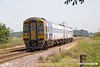 190629-001  Northern class 158 unit No. 158849 oassing Rushey Sidings, Retford, with 1L56, the 11:29 Lincoln - Leeds.