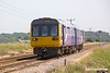 190629-002  Northern class 142 unit No. 142094 passing Rushey Sidings, Retford, with 5P74, the 11:58 Gainsborough - Gainsborough.