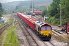 190624-061  DB Cargo class 66/0 No. 66161 is seen passing Peak Forest with 6H52, 13:07 Briggs sidings - Ashbury S.S.