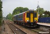 190612-007  East Midlands Trains class 156 unit No. 156497 is captured arriving at Creswell with 2W22, the 17:26 Nottingham - Worksop.