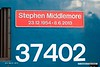 190306-017  Nameplate of Direct Rail Services class 37 No. 37402 Stephen Middlemore 23.12.1954 - 8. 6. 2013