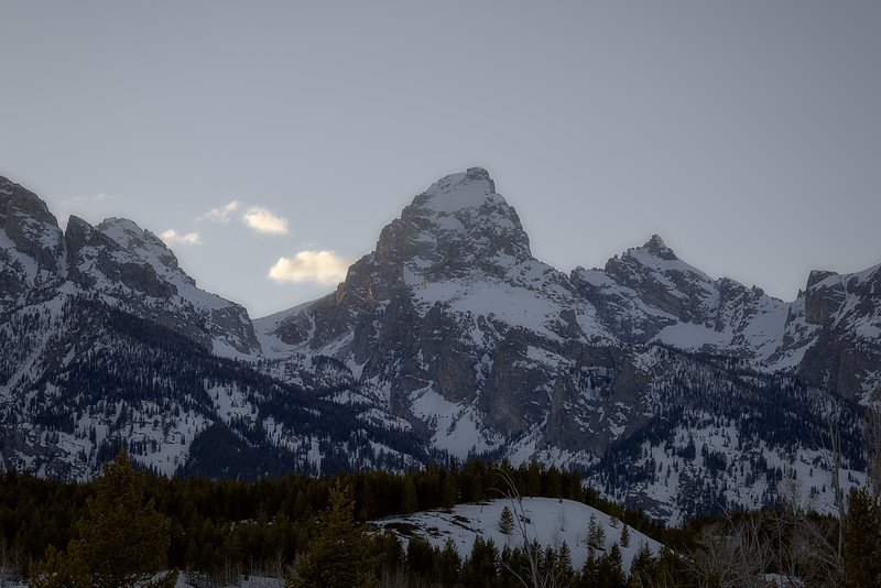 Sunsetting behind the Tetons