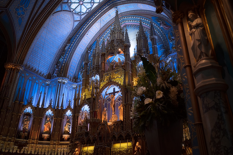 Notre Dame Basilica Montreal Side