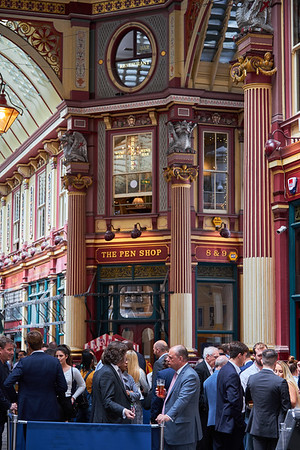 Pub lunchtime in the City of London in the Leadenhall Market