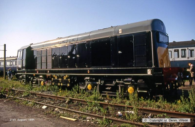 940821-002  D8188, Waterman Railways class 20 No. 20188 at Crewe Railfair.