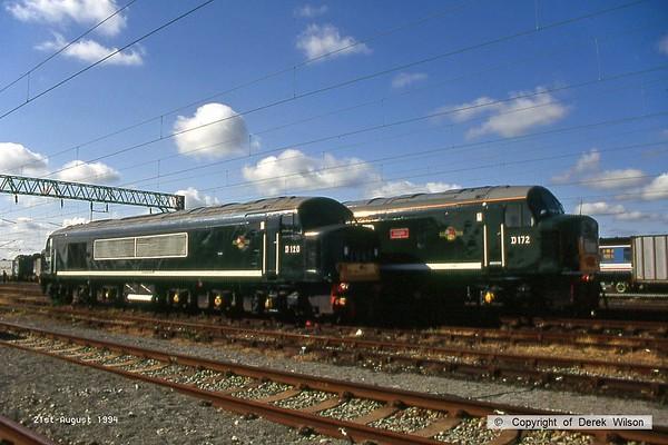 1994, 21st August, Crewe Railfair at Basford Hall