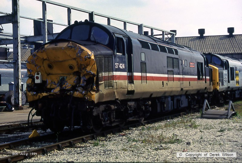 940709-012  37424 Isle of Mull (Doncaster Works, 9-7-94)