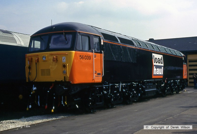940709-004  Load Haul class 56 No 56039 is seen at Doncaster Works.