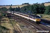 940805-001  Intercity Cross Country class 47/8 No. 47826 speeds past Clay Cross with a southbound express.