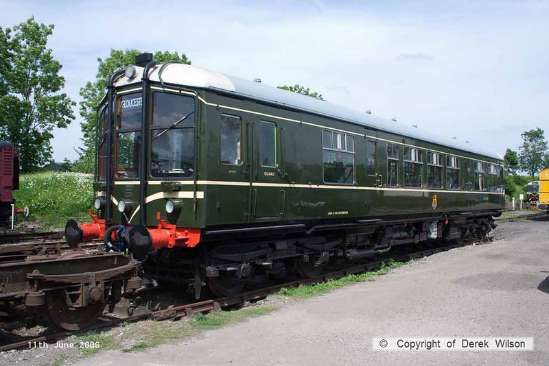 060611-009     Former BR Derby Lightweight heritage unit no M79900, seen at Butterley on the Midland Railway Centre. This unit was named Iris during it's time as a test unit in departmental stock.