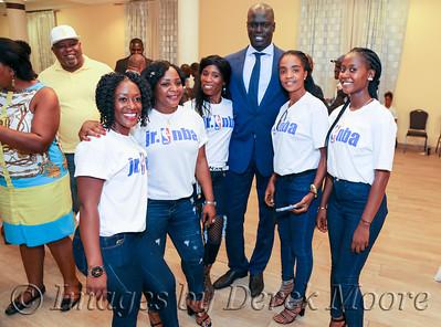 Reception - Jr. NBA Africa in Liberia