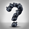 30463361 - garbage questions with a group of trash bags shaped as a question mark as a symbol of waste management and environmental issues as a throw away black plastic sack full of dirty smelly trash and useless junk