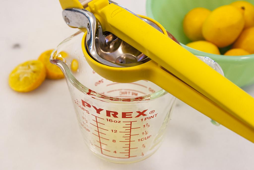 Squeezing Meyer Lemons for Lemonade