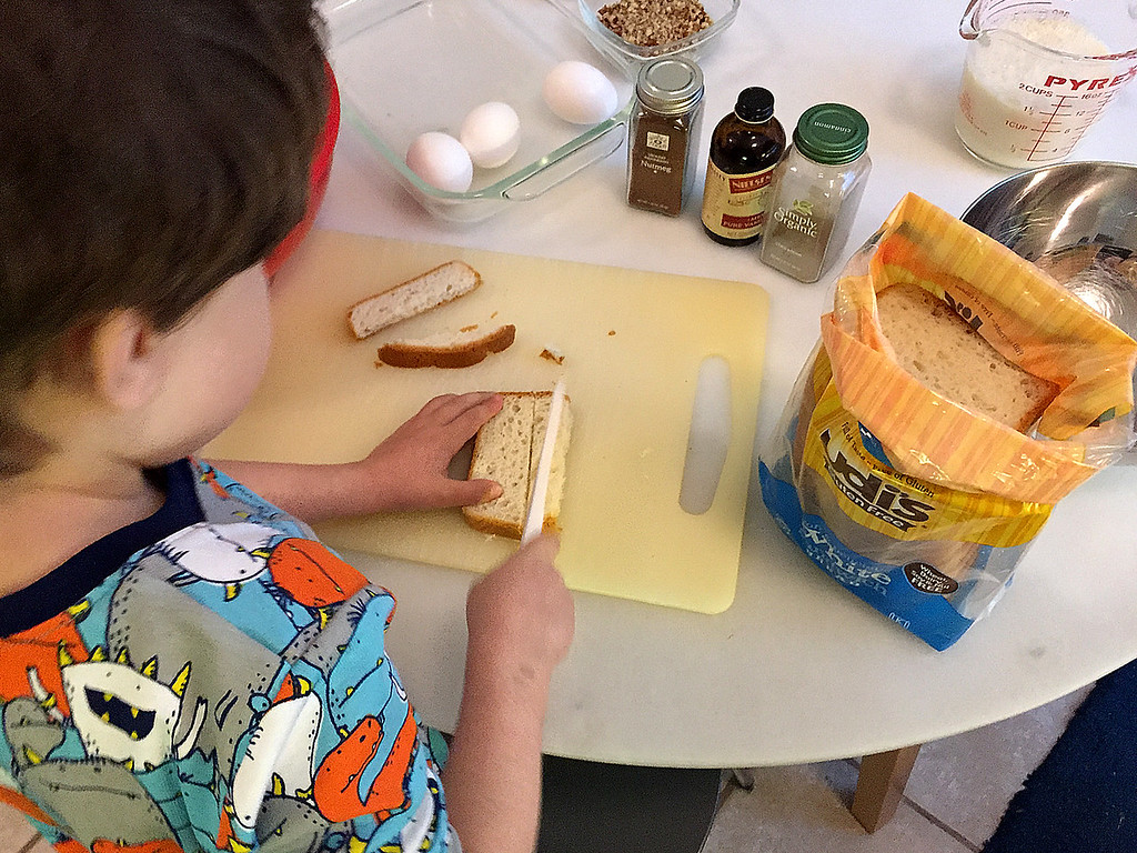 Slice Bread Into 1/2 Inch Strips