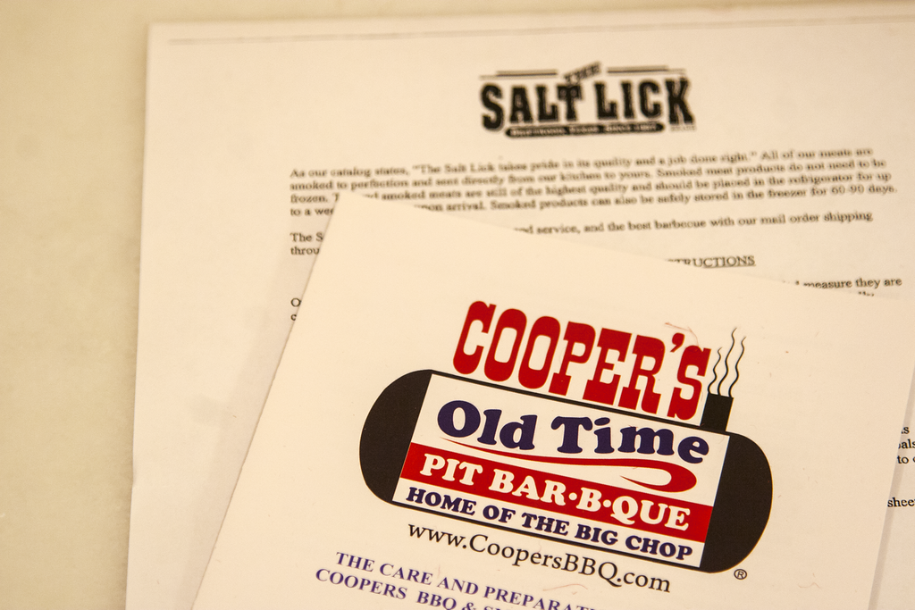Texas BBQ Heating Instructions from Cooper's Old Time Pit Bar-B-Que and The Salt Lick