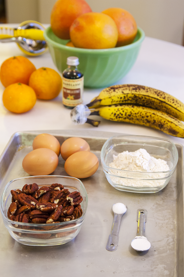 Ingredients for Making Banana Pecan Pancakes