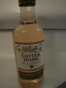 Ginger infused vodka