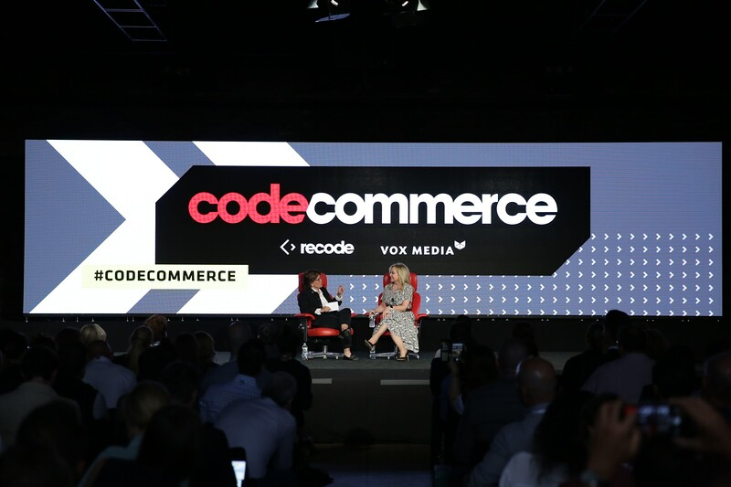Recode Editor at Large Kara Swisher interviews Julie Wainwright, Founder and CEO, The RealReal at Recode's Code Commerce 2019. Photo credit: Keith MacDonald for Vox Media.