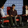 Recode Senior Correspondent Peter Kafka interviews Tara Walpert Levy, Vice President, Agency and Brand Solutions, Google, and Kyle Hanagami, Choreographer at Recode's Code Commerce 2019. Photo credit: Keith MacDonald for Vox Media.