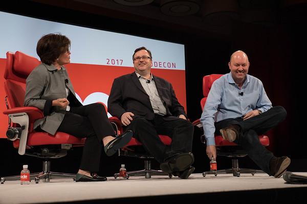 Marc Andreessen and Reid Hoffman