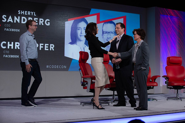 Sheryl Sandberg and Mike Schroepfer