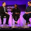 Angelica Nwandu and Matt Bellassai at Code/Media 2016