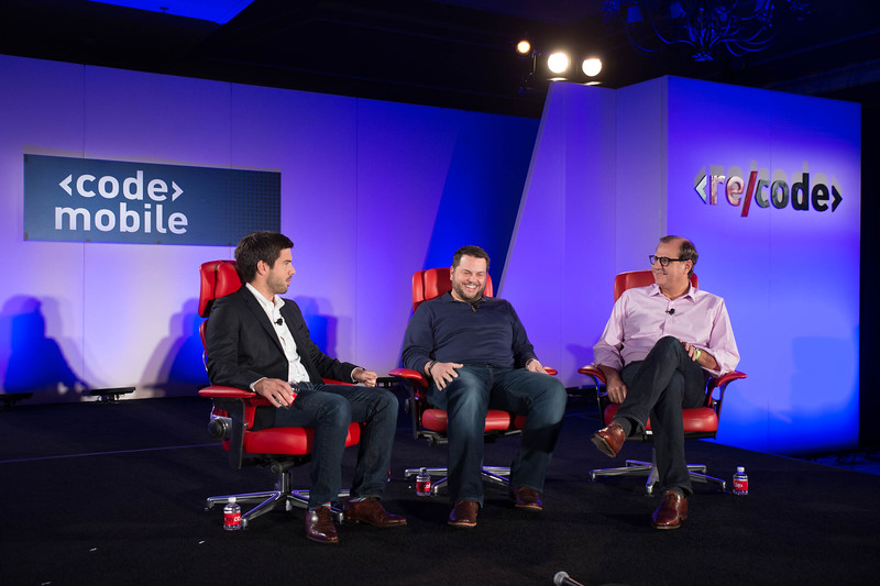 Gavin Michael and Bill Ready at Code/Mobile 2015